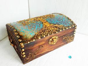 Сундук Древо Жизни. Ярмарка Мастеров - ручная работа, handmade.