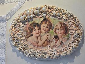 """Винтажная вешалочка """"Три сестренки"""". Ярмарка Мастеров - ручная работа, handmade."""