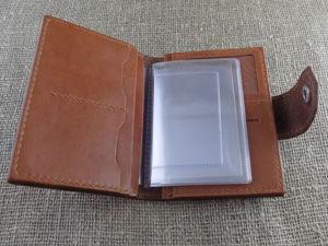 Аукцион! Кожаное портмоне для автодокументов. Ярмарка Мастеров - ручная работа, handmade.