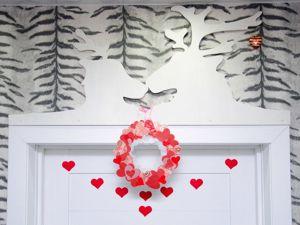 Венок ко дню всех Влюблённых своими руками. Ярмарка Мастеров - ручная работа, handmade.