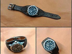 Делаем эффектный ремешок для наручных часов. Ярмарка Мастеров - ручная работа, handmade.