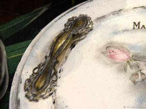 Поднос с розами Паризьен  Белый шебби. Ярмарка Мастеров - ручная работа, handmade.