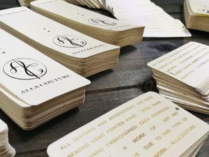 Этикетки, бирки, визитки — один из самых частых запросов от наших клиентов. Ярмарка Мастеров - ручная работа, handmade.