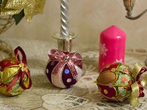 Изготавливаем новогодние текстильные шары. Ярмарка Мастеров - ручная работа, handmade.