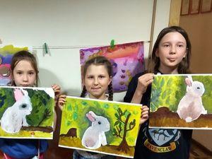 Рисуем зайку с детьми. Ярмарка Мастеров - ручная работа, handmade.