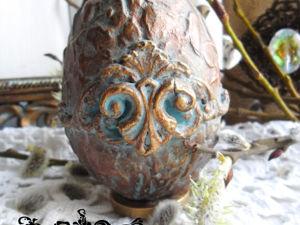 Шесть способов декора интерьерных яйц. Мастер-класс №4. Ярмарка Мастеров - ручная работа, handmade.