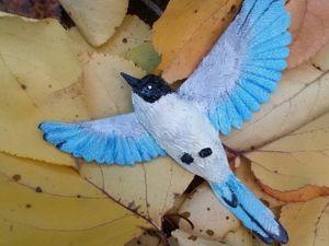 Мастерим голубую сороку из глины. Ярмарка Мастеров - ручная работа, handmade.