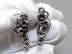 Серебряные серьги с сапфирами (видео). Ярмарка Мастеров - ручная работа, handmade.