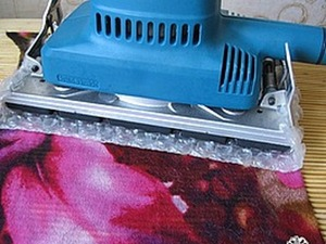Мокрое валяние на ткани с помощью вибро-шлифовальной машинки. Ярмарка Мастеров - ручная работа, handmade.