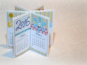 Мастерим симпатичный настольный календарик. Ярмарка Мастеров - ручная работа, handmade.