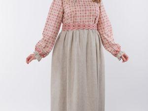 Платье Традиционное Льняное Поле 01. Ярмарка Мастеров - ручная работа, handmade.