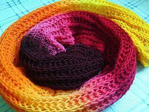 Красим старый шарф с помощью красителей для яиц. Ярмарка Мастеров - ручная работа, handmade.