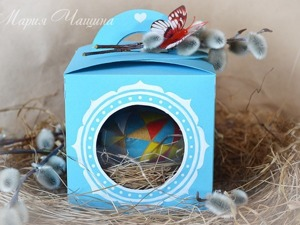 Мастер-класс: пасхальное яйцо в гнезде и подарочной коробочке. Ярмарка Мастеров - ручная работа, handmade.