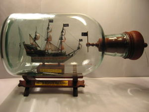 Изготовление корабля в бутылке «Месть королевы Анны». Часть 2. Ярмарка Мастеров - ручная работа, handmade.
