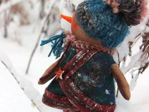Шьем милого чумазого снеговика. Ярмарка Мастеров - ручная работа, handmade.