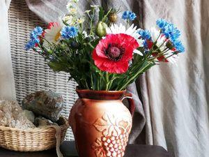 Свежеслепленный букет летних цветов. Ярмарка Мастеров - ручная работа, handmade.