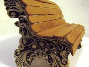 Создаем миниатюрную скамейку. Ярмарка Мастеров - ручная работа, handmade.