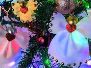 Делаем игрушки на елку из фоамирана. Рождественский ангел. Ярмарка Мастеров - ручная работа, handmade.