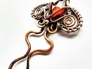 Видео Декоративная шпилька. Ярмарка Мастеров - ручная работа, handmade.