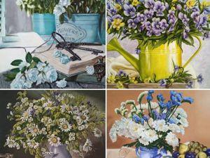 Серия картин  «Цветочный натюрморт». Ярмарка Мастеров - ручная работа, handmade.