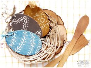 Пасхальные сувениры с элементами резьбы. Ярмарка Мастеров - ручная работа, handmade.