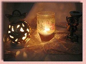 """Подсвечник из стакана-бокала. """"Романтик"""".. Ярмарка Мастеров - ручная работа, handmade."""