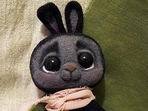 «Кролики — это не только ценный мех, но и овечья шерсть»: валяем милую карманную игрушку. Ярмарка Мастеров - ручная работа, handmade.