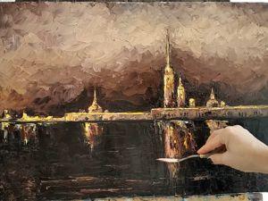 Интерьерная картина мастихином. Ярмарка Мастеров - ручная работа, handmade.