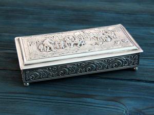 Скидка недели! Винтажная шкатулка для сигар. Ярмарка Мастеров - ручная работа, handmade.