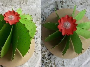 Мастерим 3D кактус из бумаги. Ярмарка Мастеров - ручная работа, handmade.