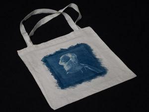 Как украсить авторским принтом холщовую сумку. Работаем в технике цианотипии. Ярмарка Мастеров - ручная работа, handmade.