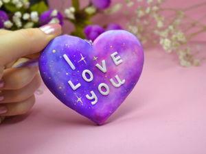 Видео мастер-класс: делаем валентинку «Космическое сердечко» своими руками. Ярмарка Мастеров - ручная работа, handmade.