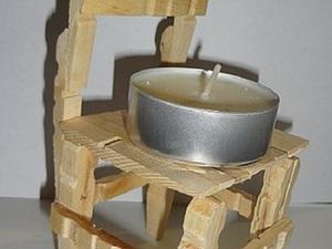 Делаем кукольный стульчик из прищепок. Вариант 2. Ярмарка Мастеров - ручная работа, handmade.