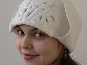 "Валяем стильную шапку-ушанку ""Снежная королева"". Ярмарка Мастеров - ручная работа, handmade."