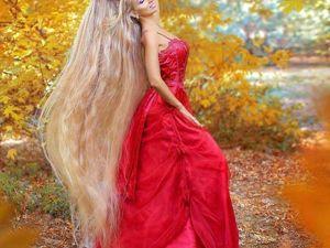 Современная Рапунцель. Украинка Алена Кравченко отрастила волосы длиной 1,8м. Ярмарка Мастеров - ручная работа, handmade.
