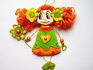 МК Кукла-брошка.. Ярмарка Мастеров - ручная работа, handmade.
