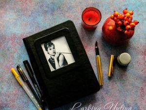 Черный блокнот для Bullet Journal. Ярмарка Мастеров - ручная работа, handmade.