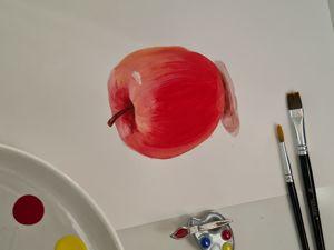 Рисуем яблоко!. Ярмарка Мастеров - ручная работа, handmade.
