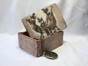 """Шкатулка «Замечательные коты - трио """"Бродяги""""». Ярмарка Мастеров - ручная работа, handmade."""