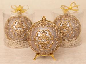 Новогодний шар для украшения елки. Ярмарка Мастеров - ручная работа, handmade.