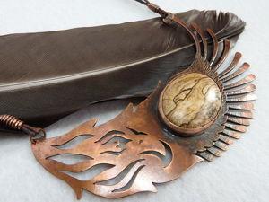 Процесс изготовления колье, или Как из верблюда сделать орла, а из пустыни — горы. Часть1. Ярмарка Мастеров - ручная работа, handmade.