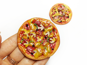 Мастер-класс по лепке из полимерной глины «Пицца». Ярмарка Мастеров - ручная работа, handmade.