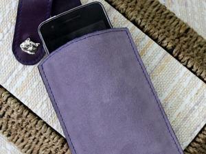 Изготовление чехла для мобильного телефона из натуральной кожи и спилка. Ярмарка Мастеров - ручная работа, handmade.