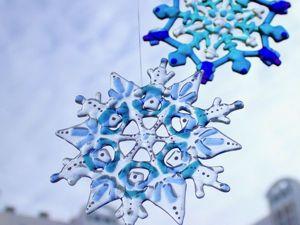 Изготавливаем снежинку из стекла. Ярмарка Мастеров - ручная работа, handmade.