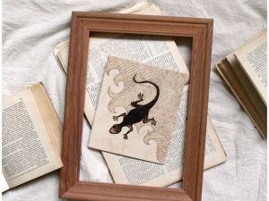 Уроки выжигания: деревянная картина с ящеркой. Ярмарка Мастеров - ручная работа, handmade.