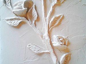 Создаем веточку розы из шпатлевки. Ярмарка Мастеров - ручная работа, handmade.