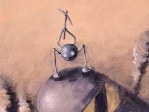 День 301. Картина маслом  «Движение вверх» . 2-я работа из серии 50 дней масла. Ярмарка Мастеров - ручная работа, handmade.
