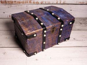 Переделка коробки в сундук. Ярмарка Мастеров - ручная работа, handmade.