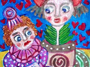 """Весной любовь нагрянет! — В акции """"-30-50"""" до 06.03. солирует работа """"Клоун, влюбленный в цветок"""". Ярмарка Мастеров - ручная работа, handmade."""