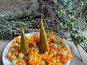 Травяные безфитильные свечи (свечи ведьмины). Ярмарка Мастеров - ручная работа, handmade.